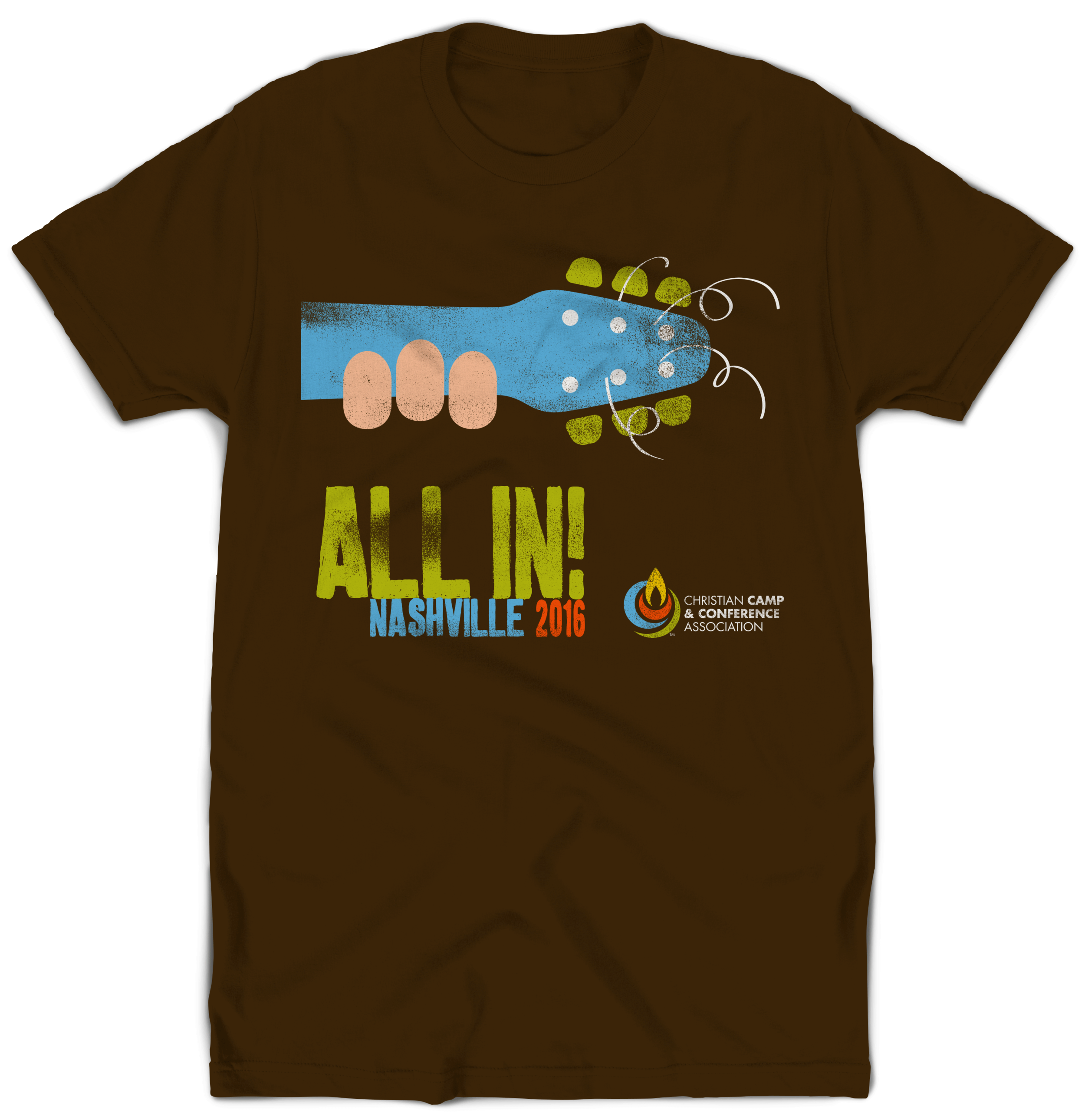 All In conference souvenir Tee | Printed in-house for the Christian Camp and Conference (CCCA) 2016 All In Conference.