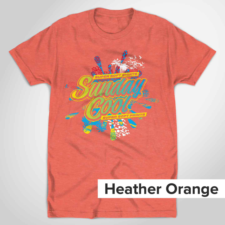 Super Soft Heather Orange