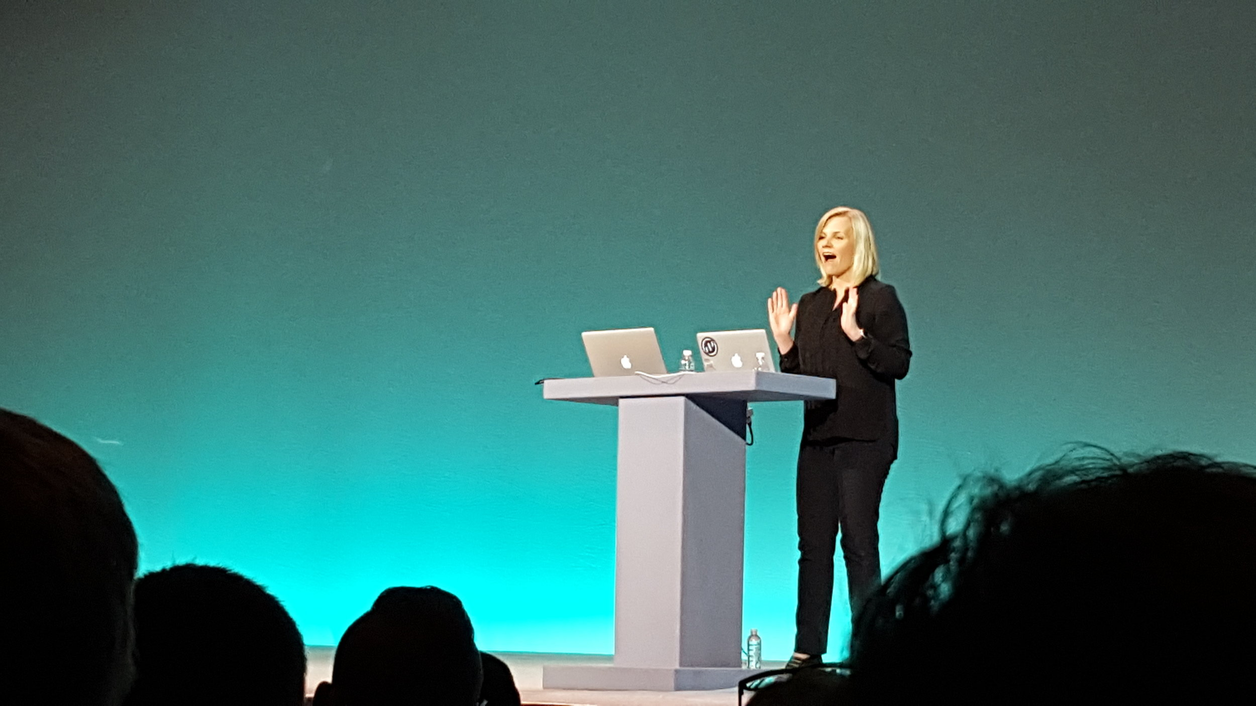 Ann-Marie Darrough: Director, Offering Management, IBM Watson Work. Giving a dynamite presentation at the opening general session. She is a fellow Canadian and we are excited to see her in this role.  https://twitter.com/amdarrough