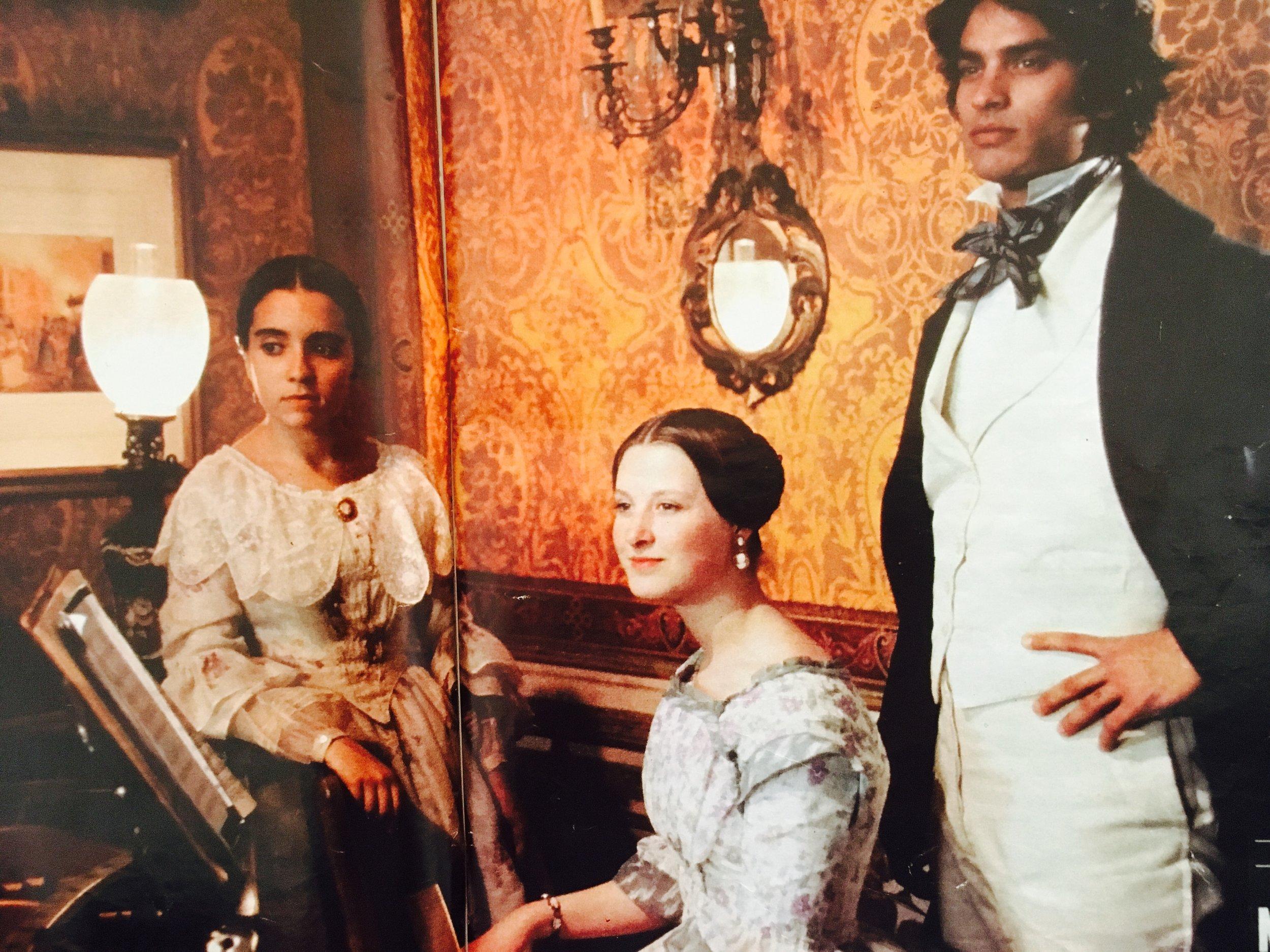 On the set of Sparrow, Franco Zeffirelli