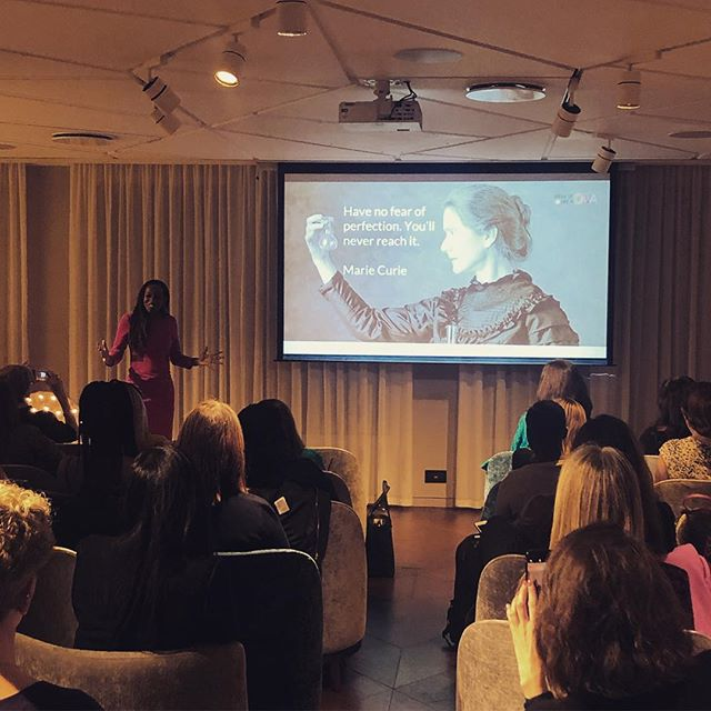 """""""Have no fear of perfection...you'll never reach it"""" 🙌🏼 #tbt to our event last month. Shoutout to @sholakaye for sharing your wisdom with us.  #throwback #tbt #womeninspiringwomen #womenempowerment #womenstyle #feministas #activist #perfection #speaker #londonevents #london #womenempowerment #womenhelpingwomen"""