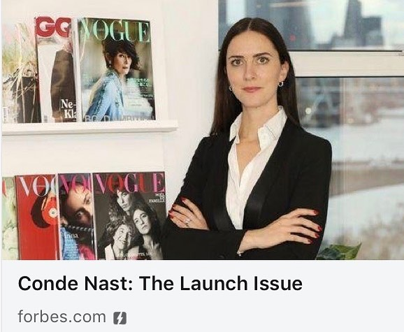 Super proud of our very own @ciarahbyrne featured in Forbes this week talking about her hard work at @condenastinternational .. Vogue's international editions have been around for decades. So has its branded vertical content. What's different now is execution. Vogue Business, launched in January, is a B2B title splicing the company's editorial DNA between fashion and commerce. It will be based on subscriptions, not advertising. Check out the article to learn more.  @voguebusiness  #condenast #vogue #publishing #advertising #publications #digital #b2b #womeninpublishing #womensnetwork