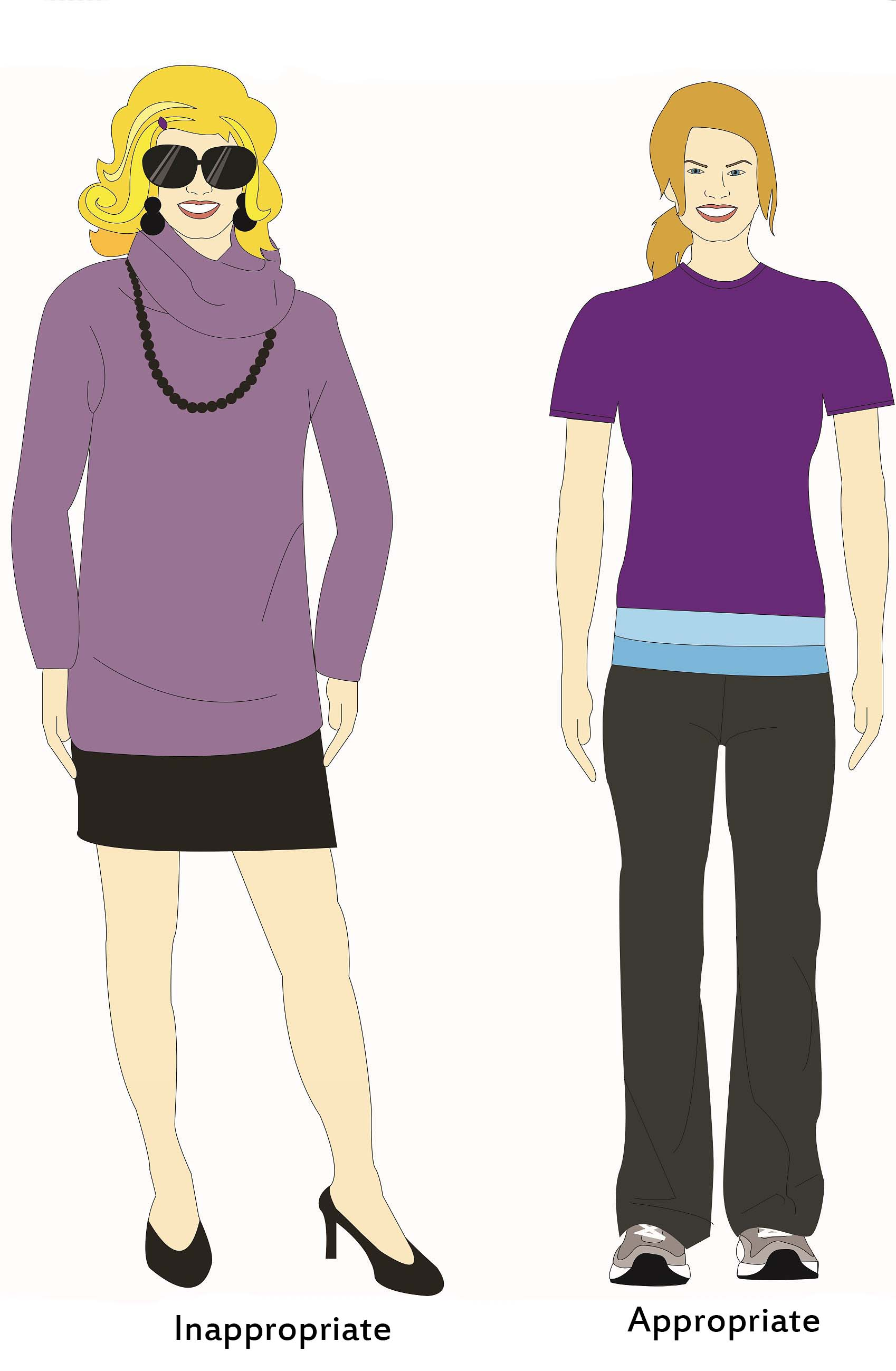Women appropriate dress for chiropractic visits - Straight Spine Chiropractic, Courtenay and Campbell River
