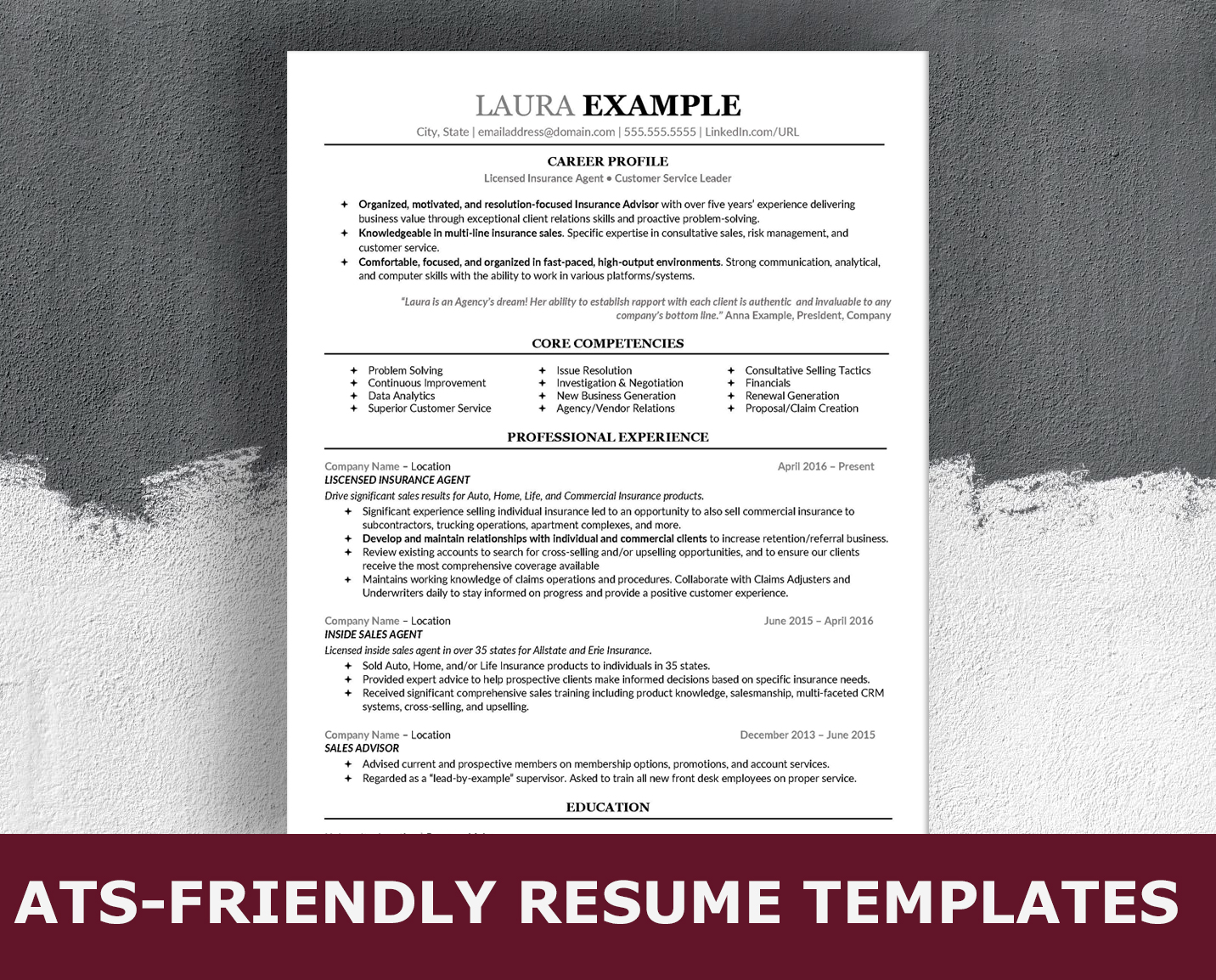 Ats Friendly Resume Format from images.squarespace-cdn.com