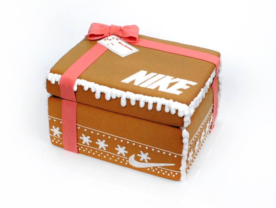 Gingerbread Shoe Box - When Nike was looking for a unique way to target key influencers before the holidays they came to us with a crazy idea and we delivered. 100 custom made-to-scale shoe boxes were constructed entirely out of gingerbread and icing and delivered across the city, filled with promotional goodies - and more cookies!