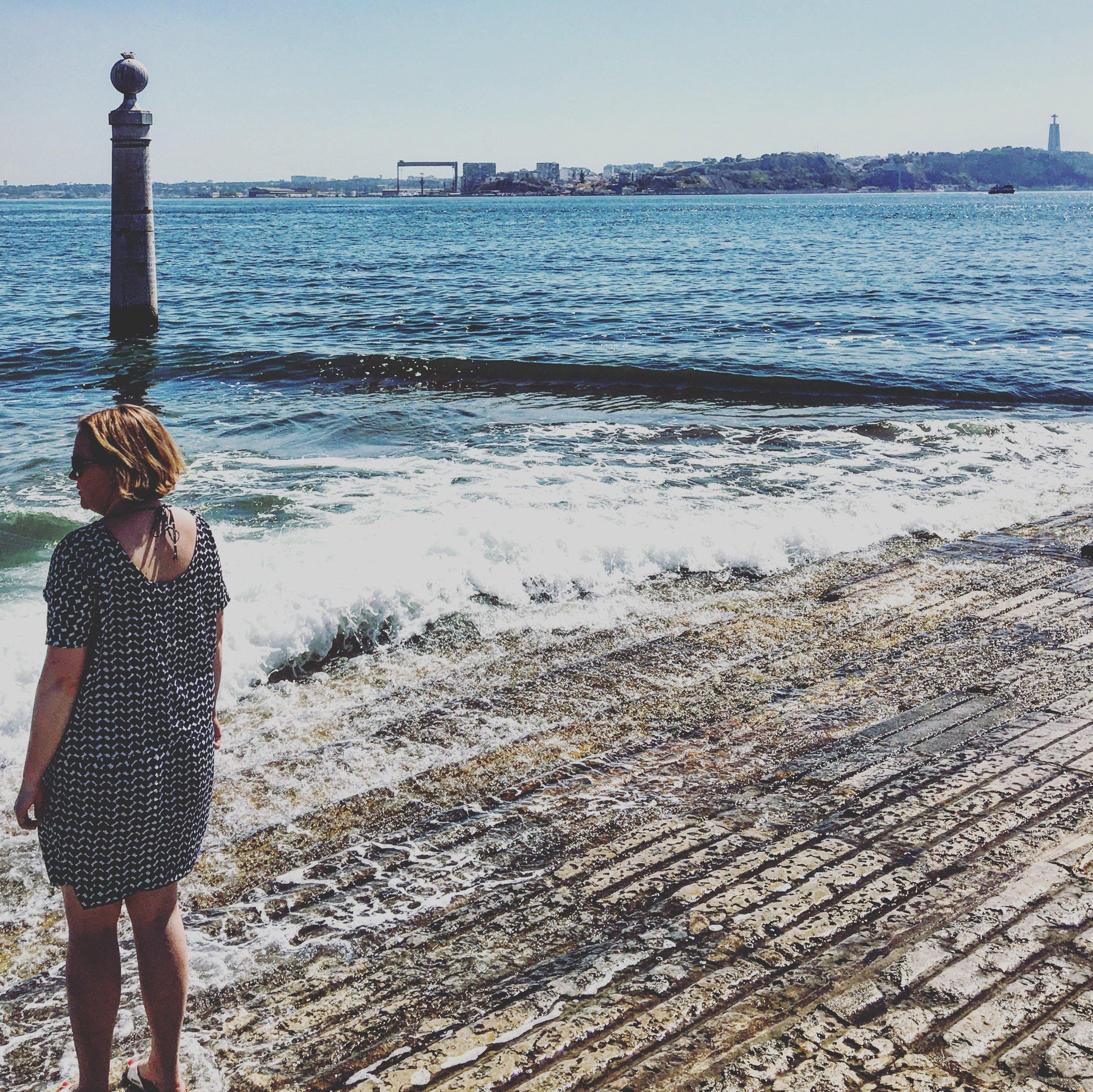 Paddling in the Rio Tajo, Lisbon - summer 2016.