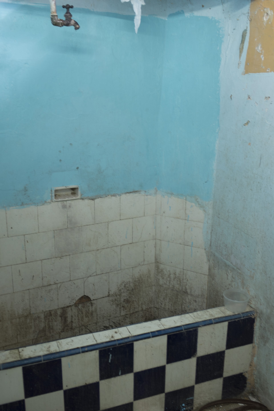The bathroom of the old apartment