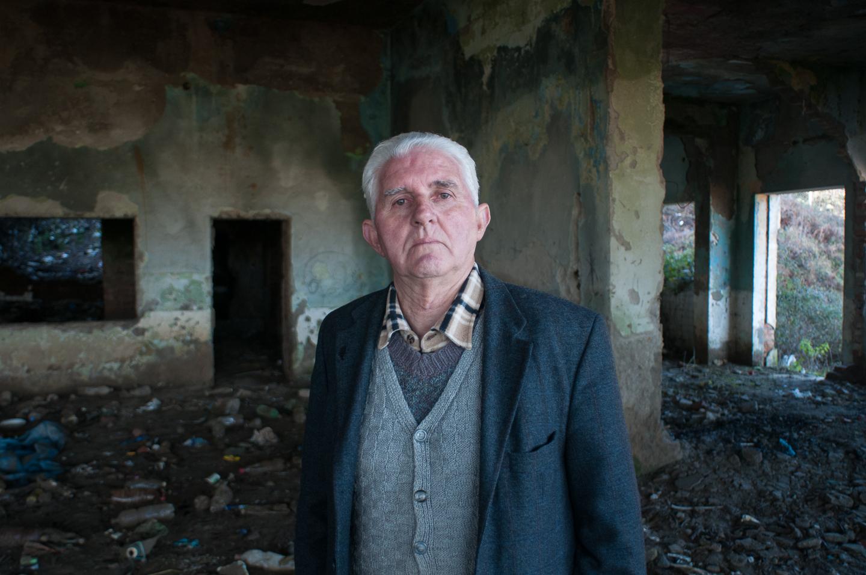Retired miner, Mushqita, Albania