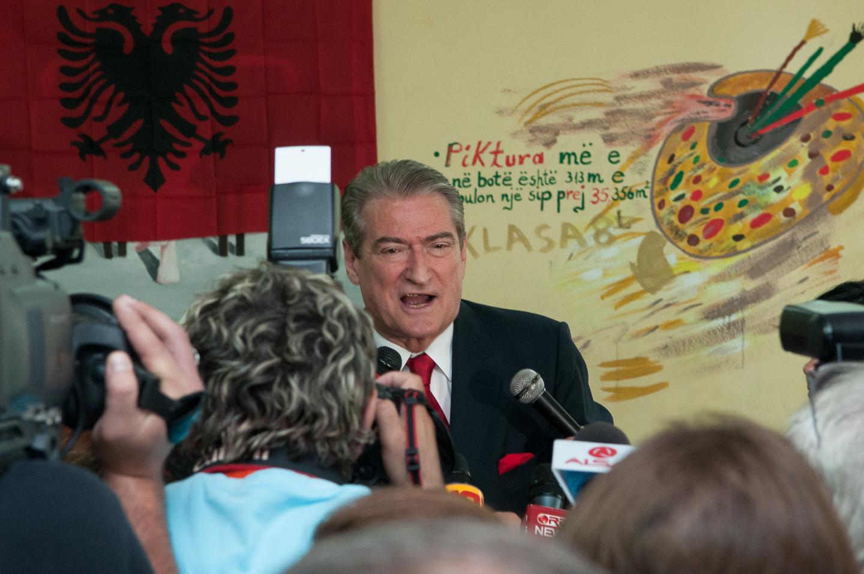 Albanian Prime Minister Sali Berisha, 2009 parliamentary elections
