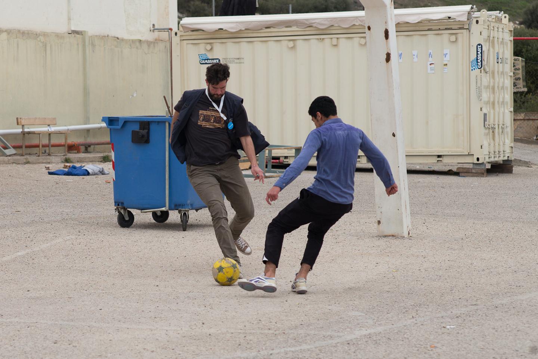 """""""Blue Dot"""" program, Elefsina refugee camp"""