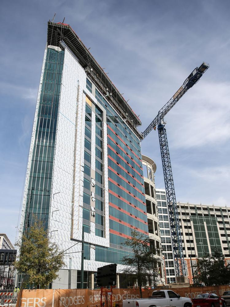SREE Hotels is building a 195-room SpringHill Suites next to the Center City Green parking deck.