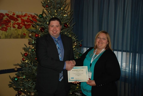 Ben Collins AOY with President Liz Bunger