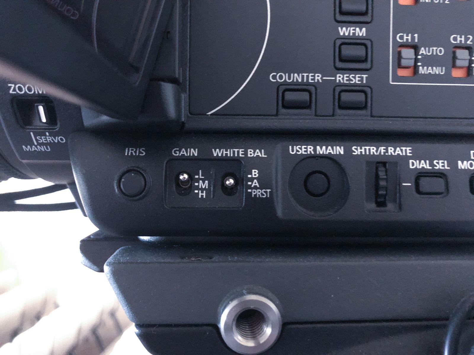 Camera settings.