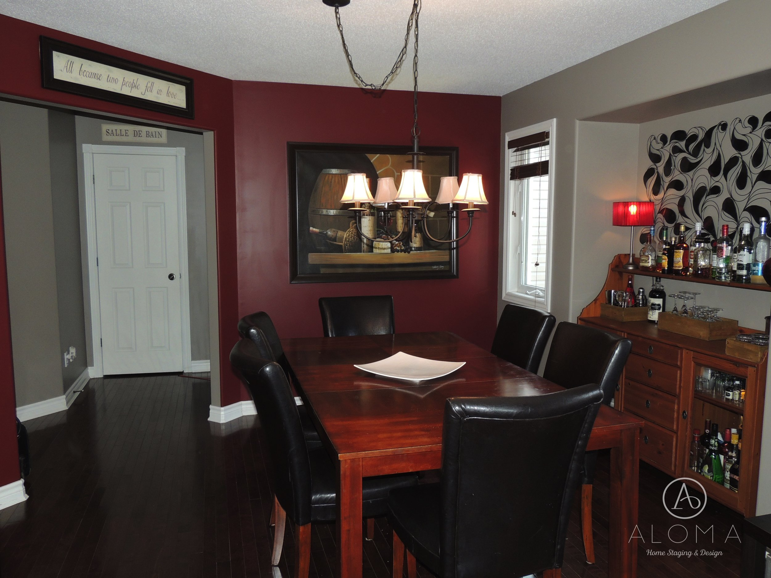 Before-Dining room-ALOMA Home Staging & Design