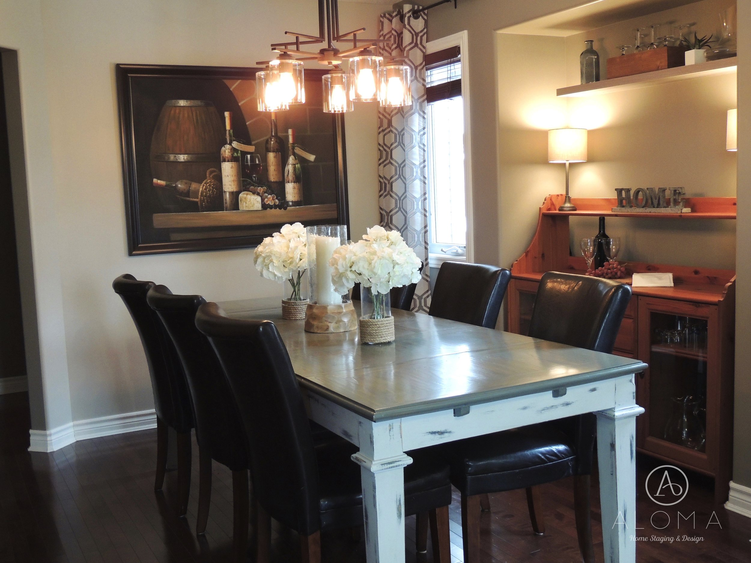 After-Dining Room- ALOMA Home Staging & Design