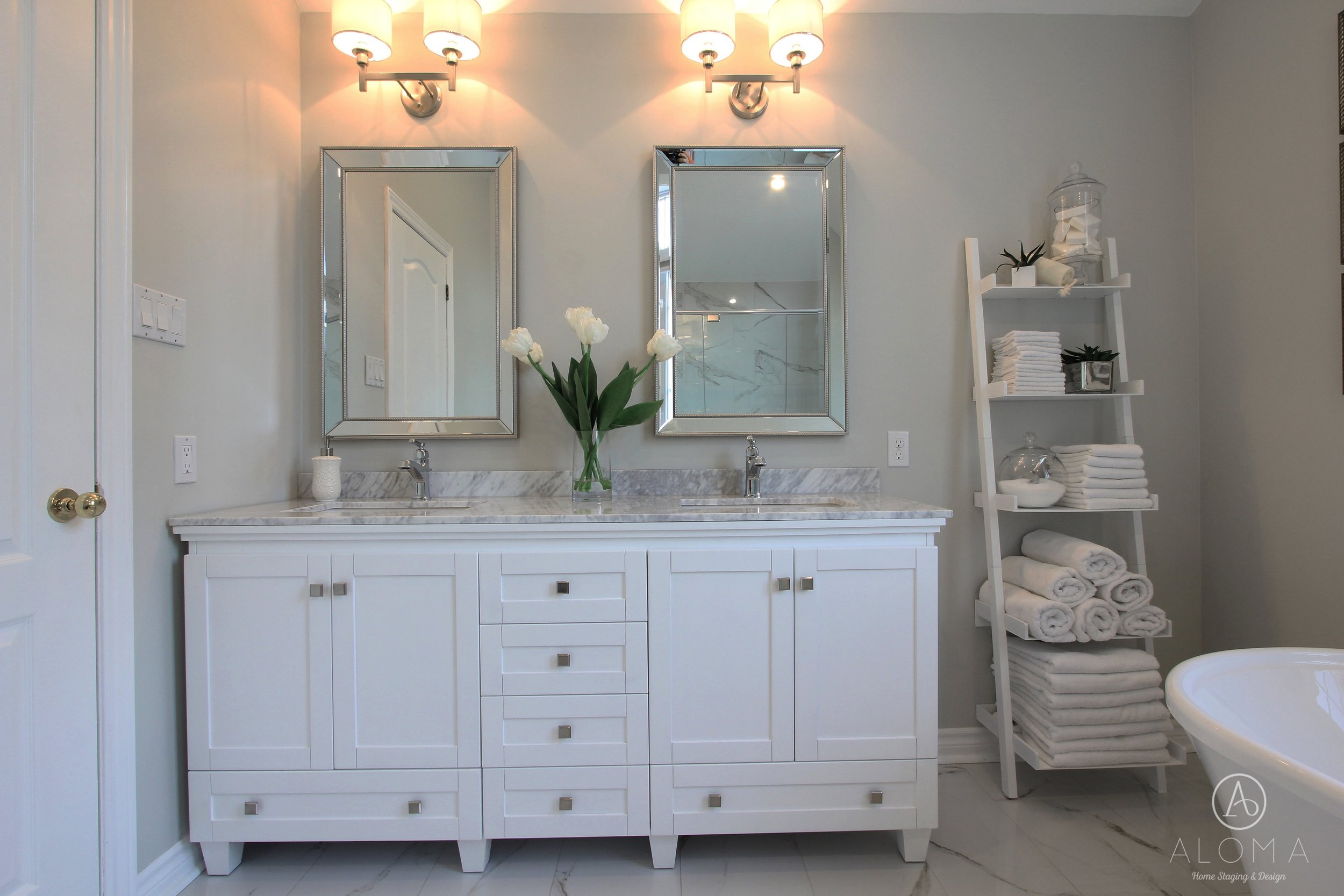 After-Country Walk Bathroom by ALOMA Home Staging & Design