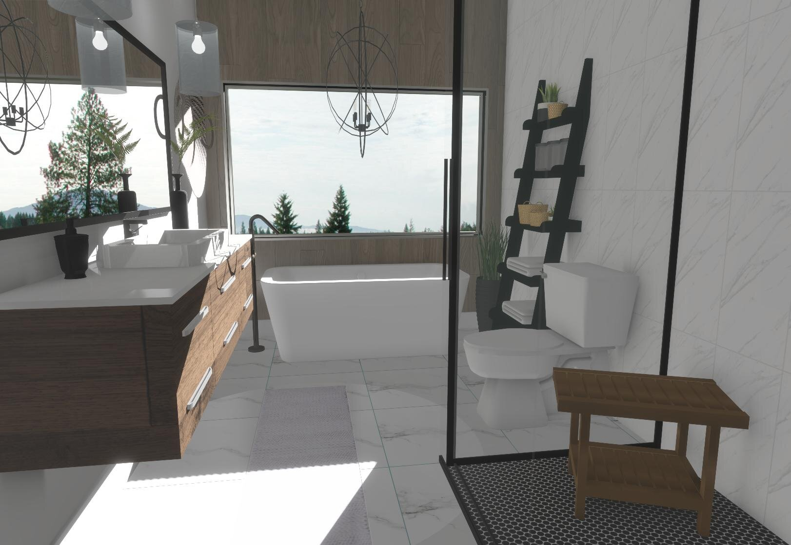King Bathroom By ALOMA Home Staging & Design