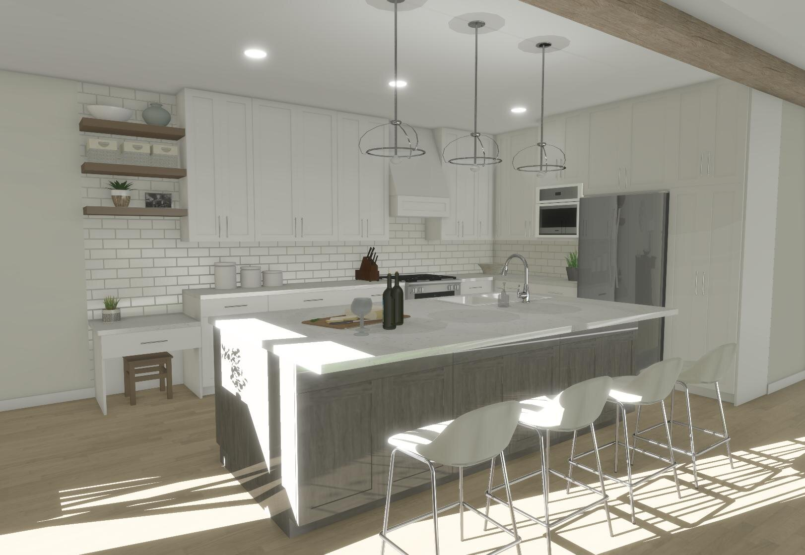 Fontenac Kitchen By ALOMA Home Staging & Design