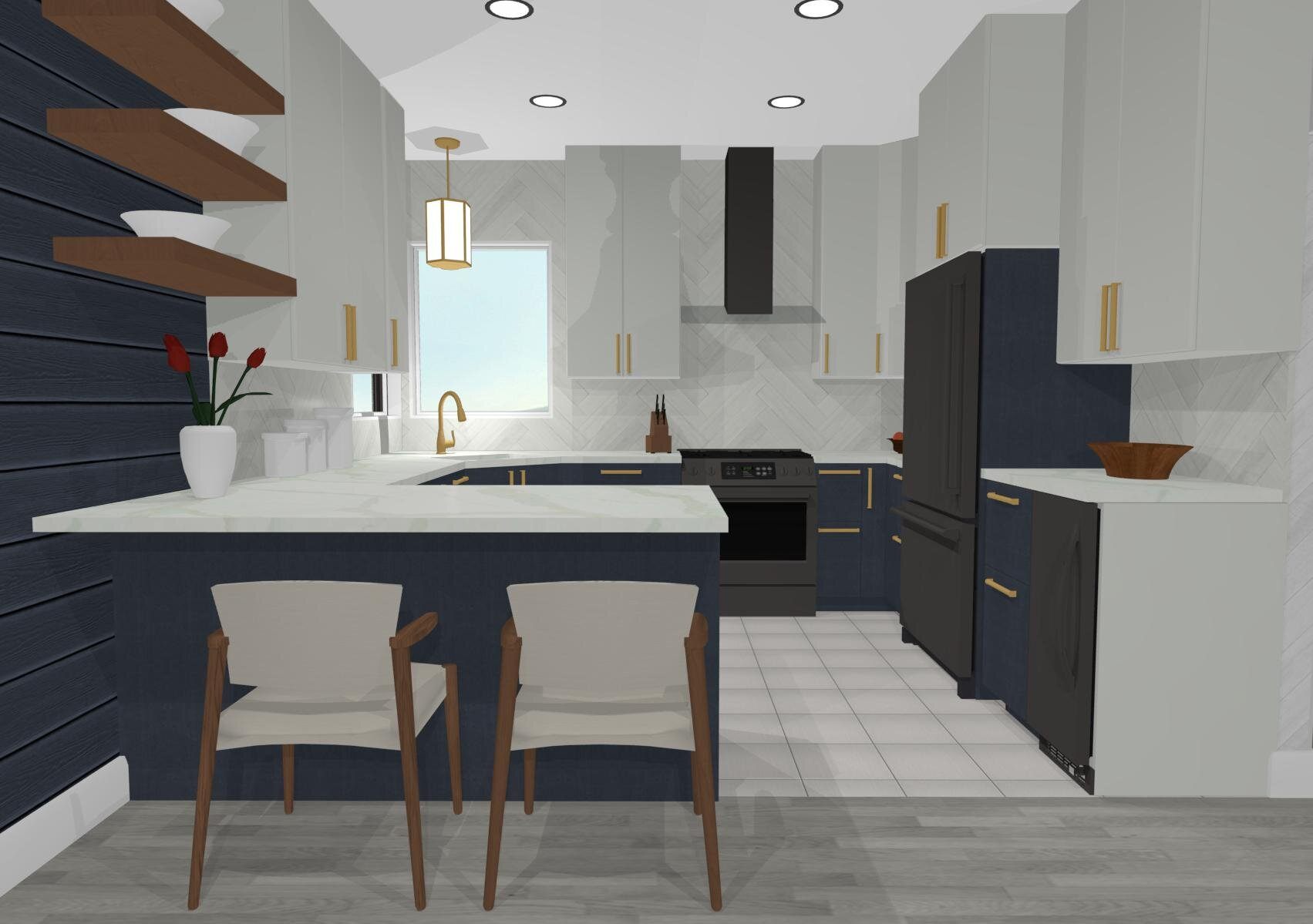 900 West Kitchen By ALOMA Home Staging & Design