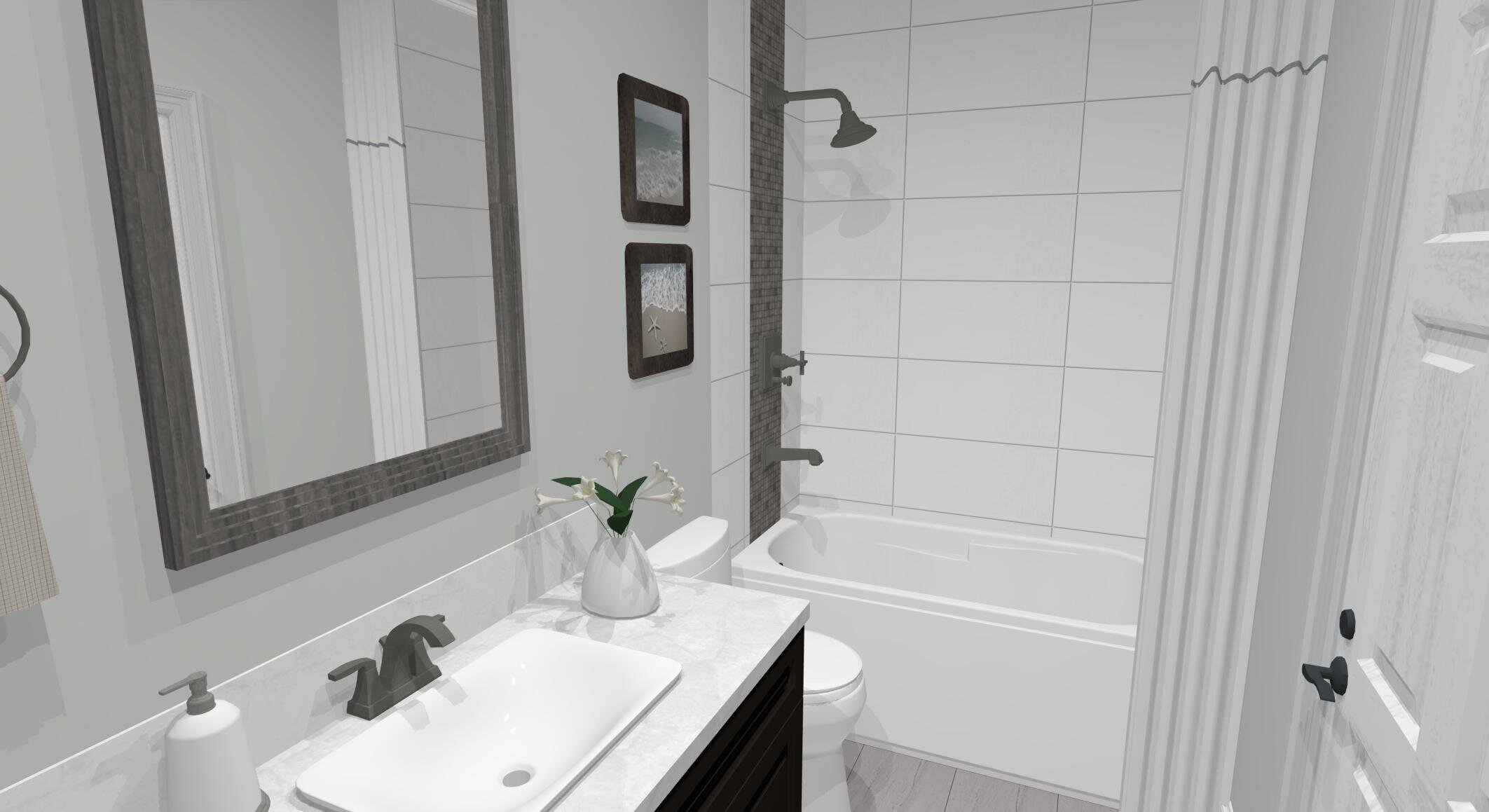 Marcel Main Bath By ALOMA Home Staging & Design