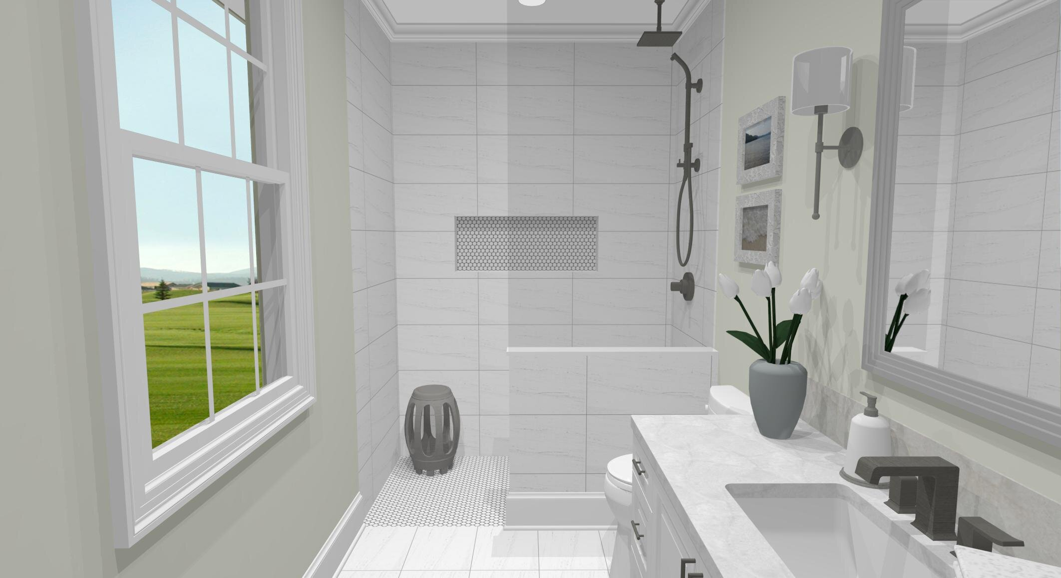 Marcel Ensuite By ALOMA Home Staging & Design