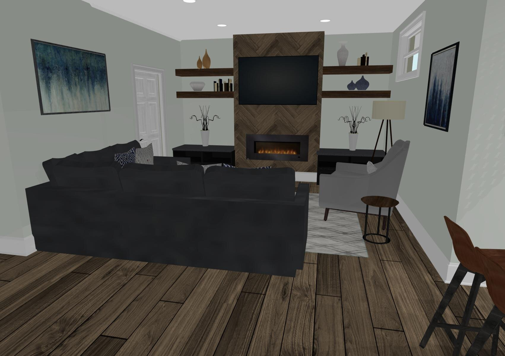 Radisson Basement By ALOMA Home Staging & Design