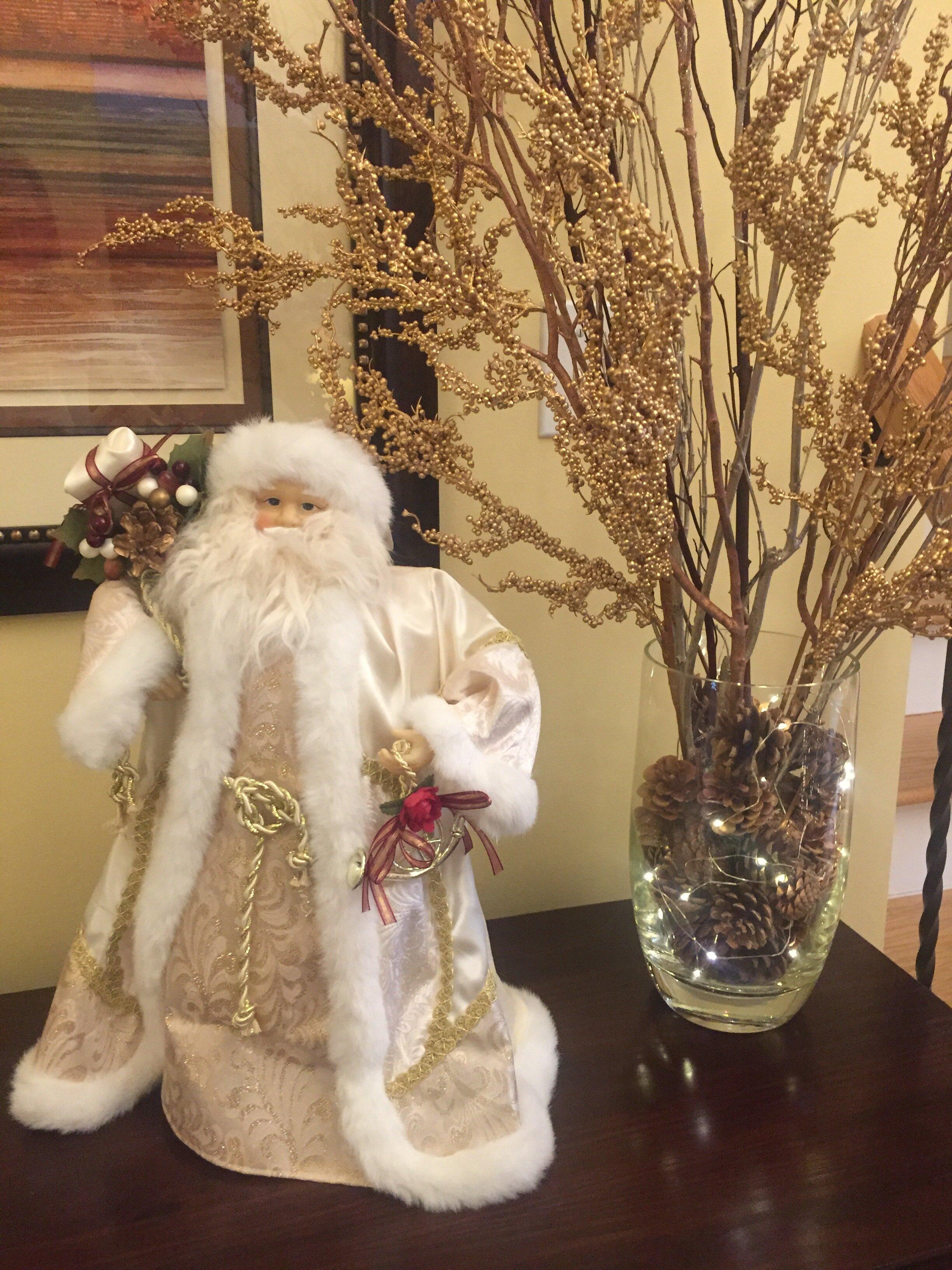 Santa & Branches in vase By ALOMA Home Staging & Design