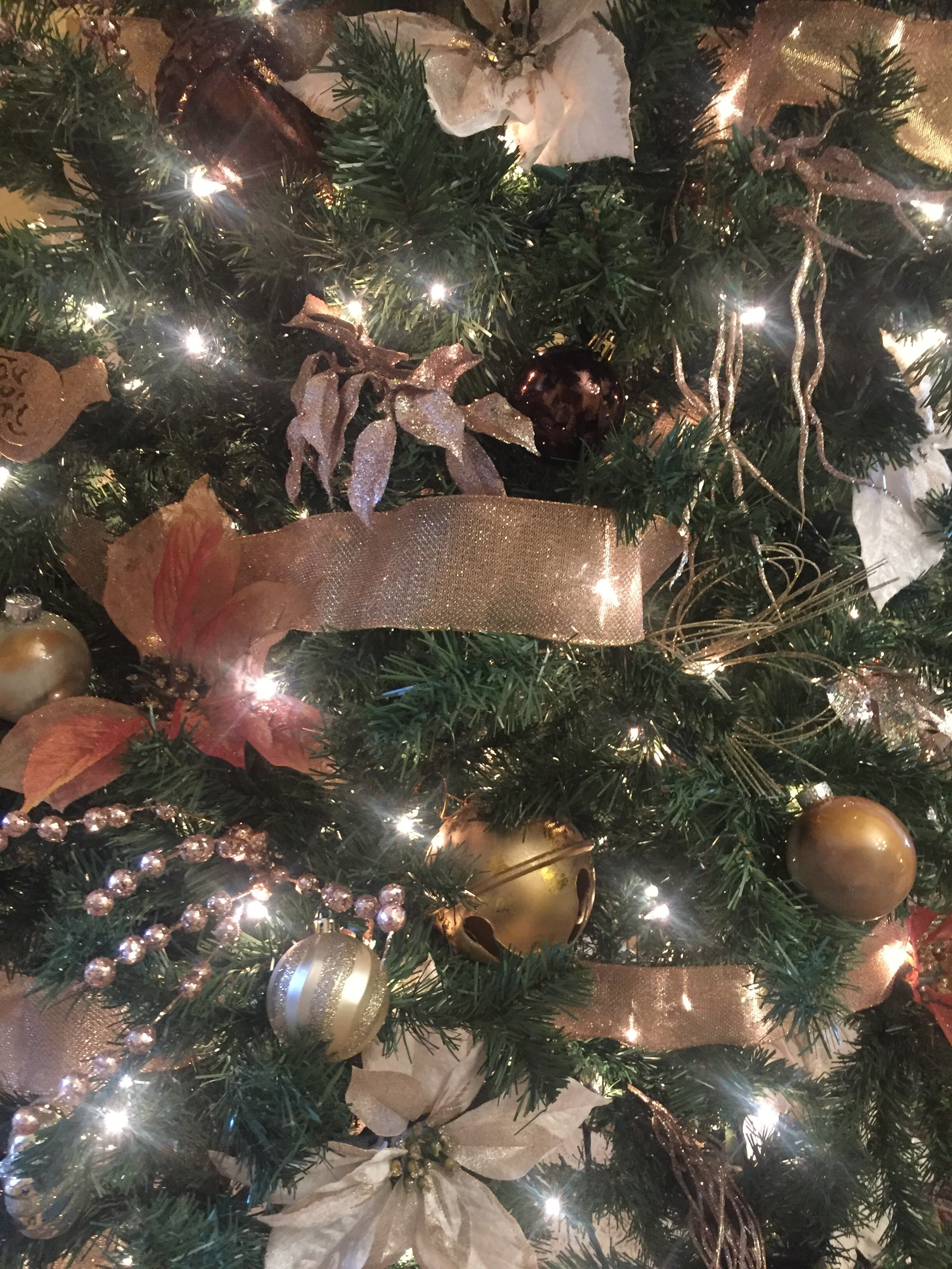 Gold & Copper Decor- Christmas Tree By ALOMA Home Staging & Design