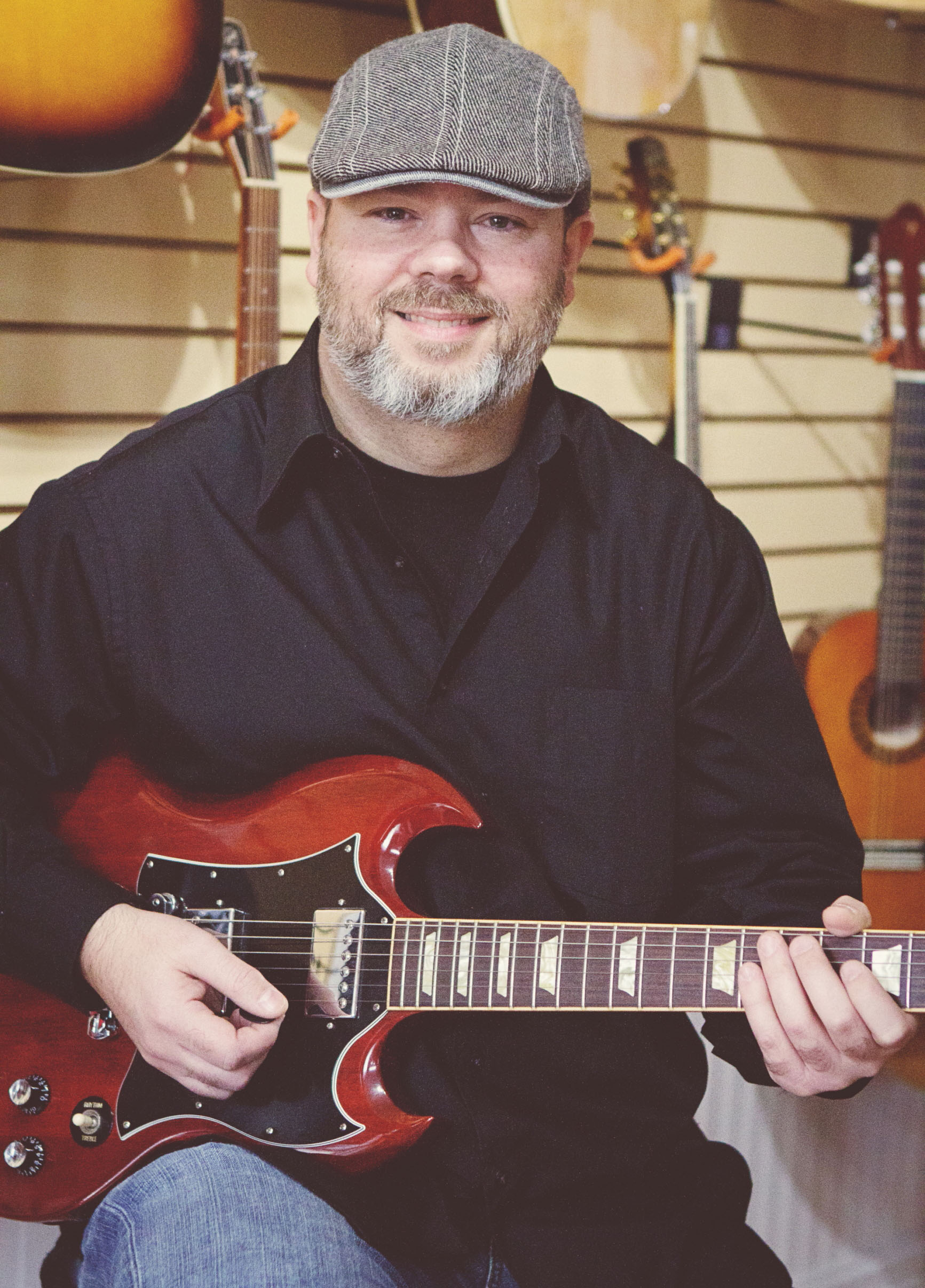 Mason S. Macleod   Guitar, Vocals, Songwriting, Percussion  Mason has been teaching and playing music professionally for three decades, from rock and metal to blues, reggae, top 40, and folk. He studied the Berkeley Jazz theory method with former Hollywood studio musician Bill Schnare, and has played with Juno winners and nominees, backing up and trading solos with maestros such as Morgan Davis and Matt Anderson.