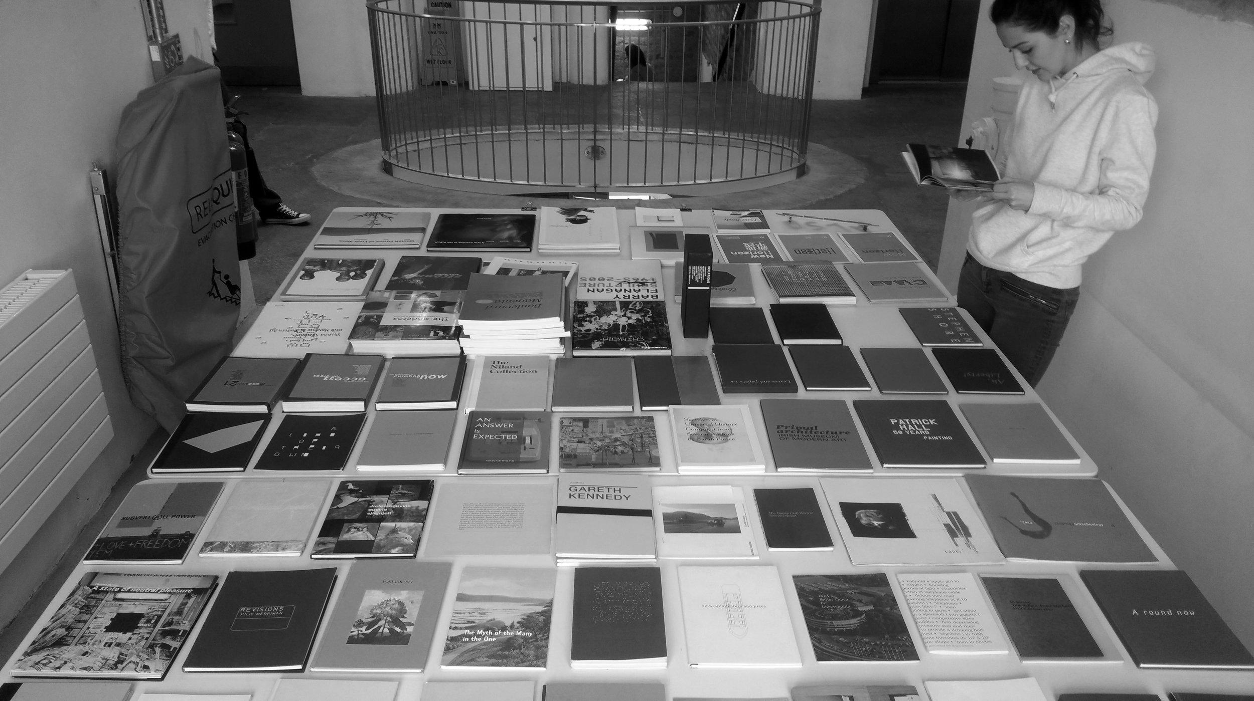 Nadia looks at 1 of 91 titles on display, 1 May 2018