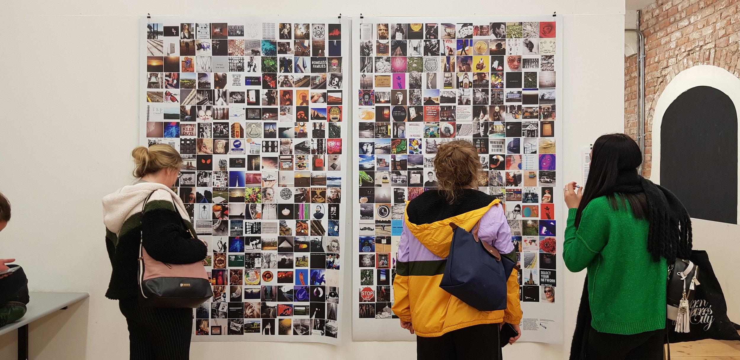 Students visit SELECT YOUR NETWORK (2) exhibition, Grangegorman campus, December 2018
