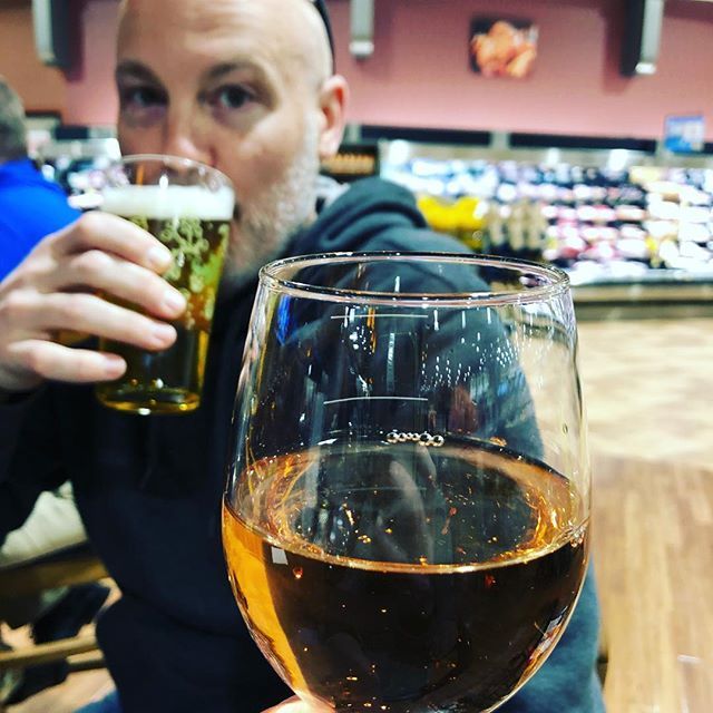 Stopped into my dad's local Harris Teeter and there's a BAR. We had to try it. #cleanupinaisleone