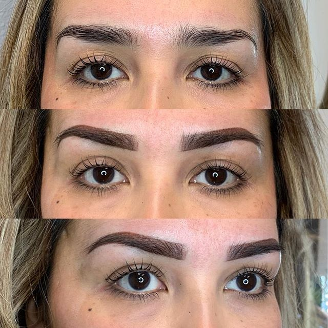 Lash lift and ombré brows . . . . . . . . #permanentmakeup #microblading #ombrebrows #combobrows #microshading #makeup #permablend #bayarea #fremont #sanjose #browsworldwide #archaddicts #brows #xions #lashlift #elleebana