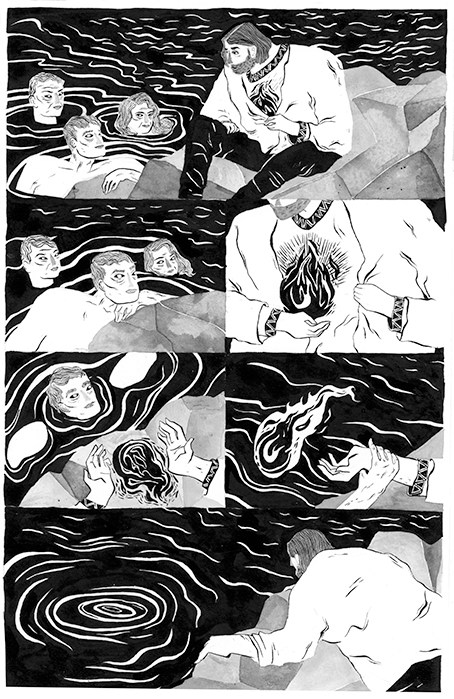 "A page from the short story ""Dive"", published in the Other Side Anthology in 2016."
