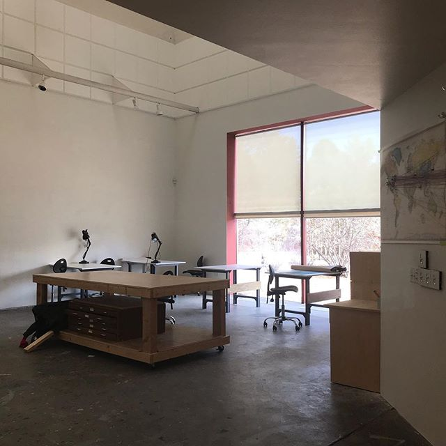 Blessed to be sharing this studio with the three other storymaps fellows @santafeartinstitute - also peep at the first studio space in two years with windows ^.^ . . #sfai #smfellows2019