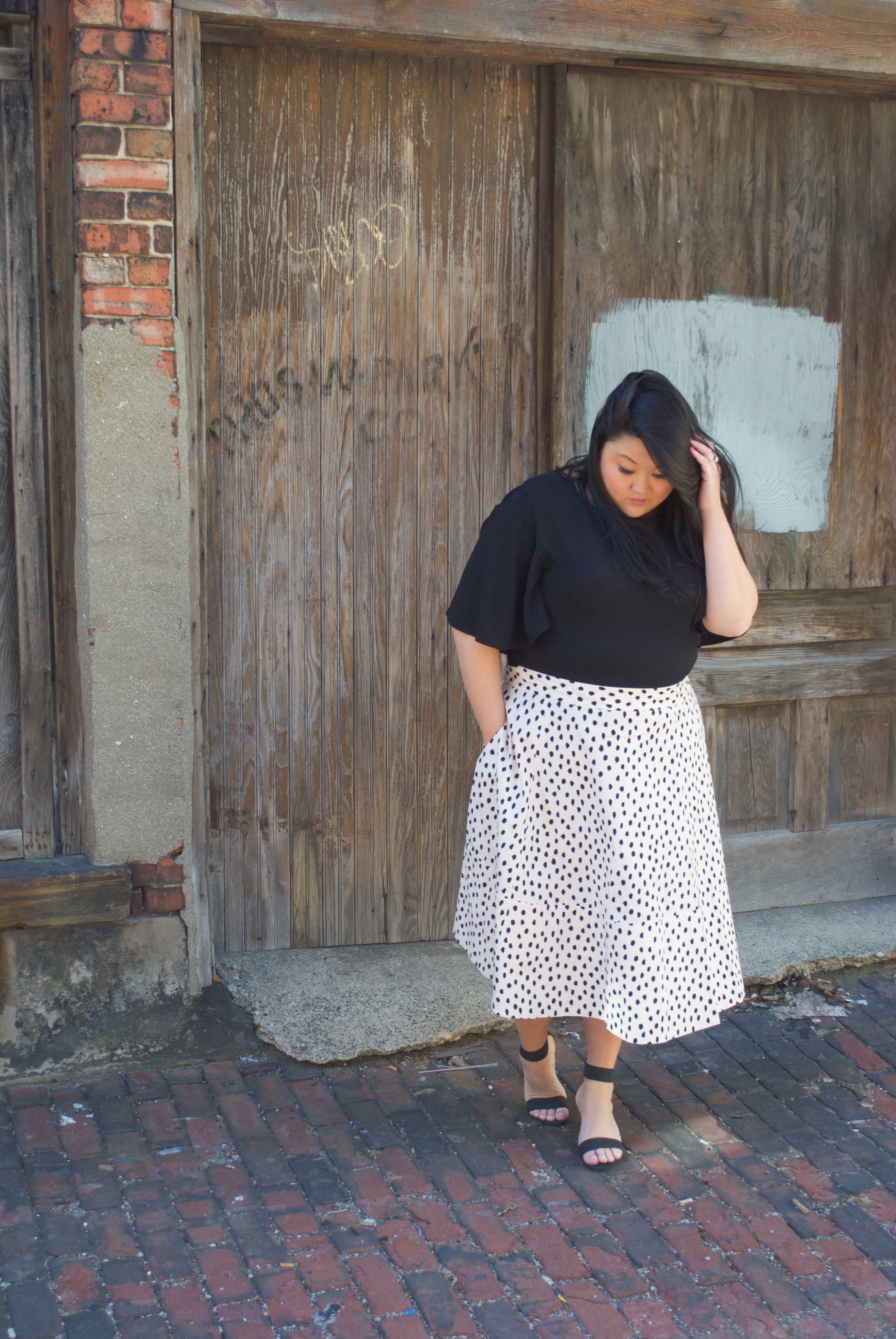 sincerely ashley outfit post | kate spade leopard dot skirt