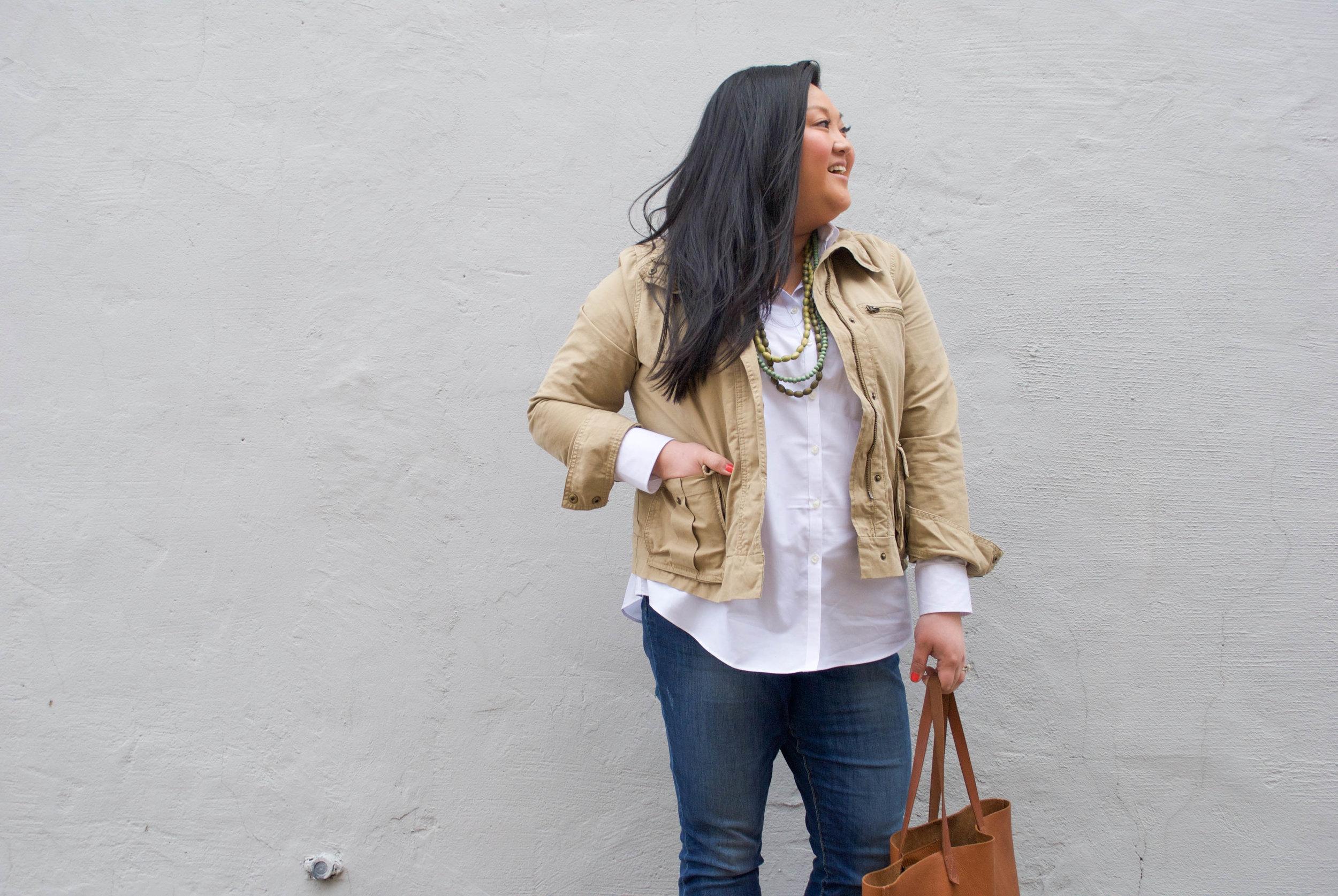 utility jacket oxford shirt