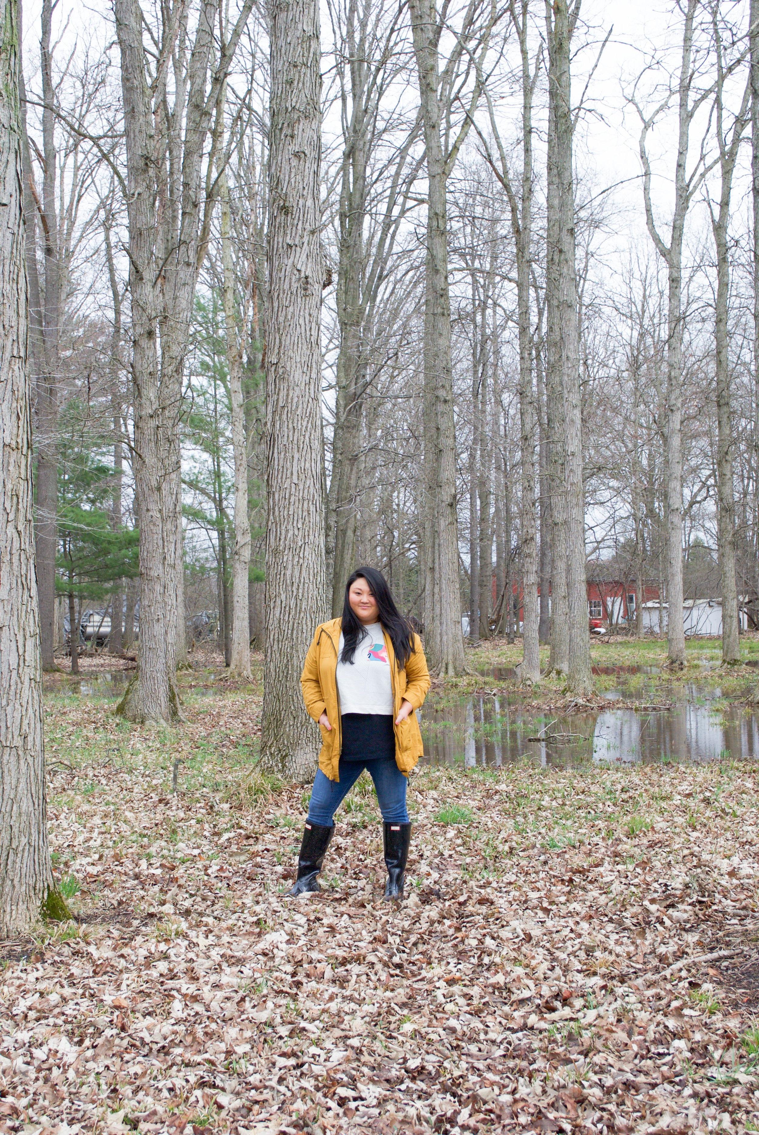 sincerely ashley | yellow raincoat