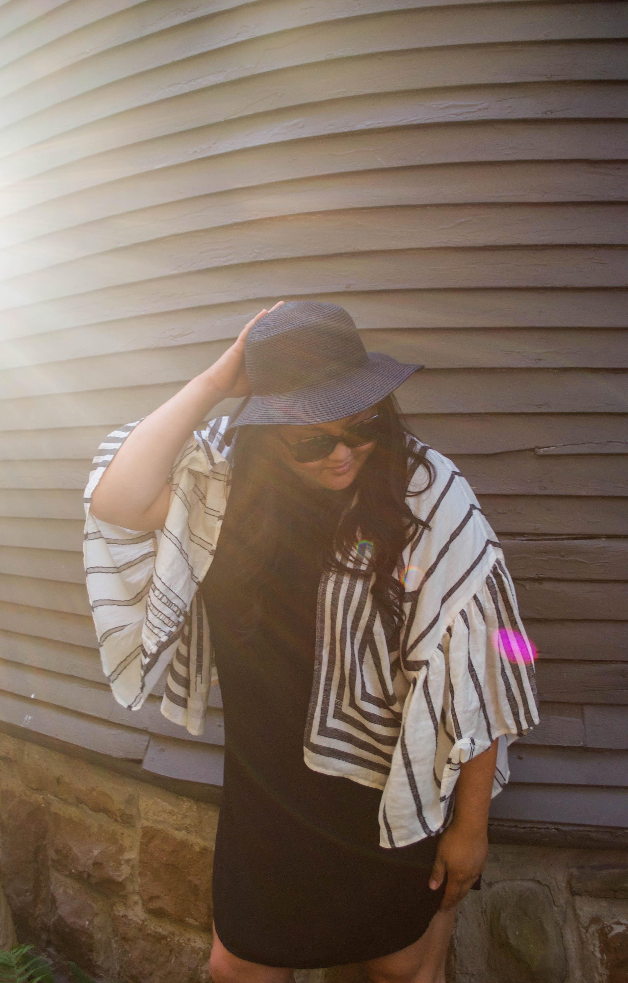 sincerely ashley | anthropologie-ruffle-sleeve-kimono