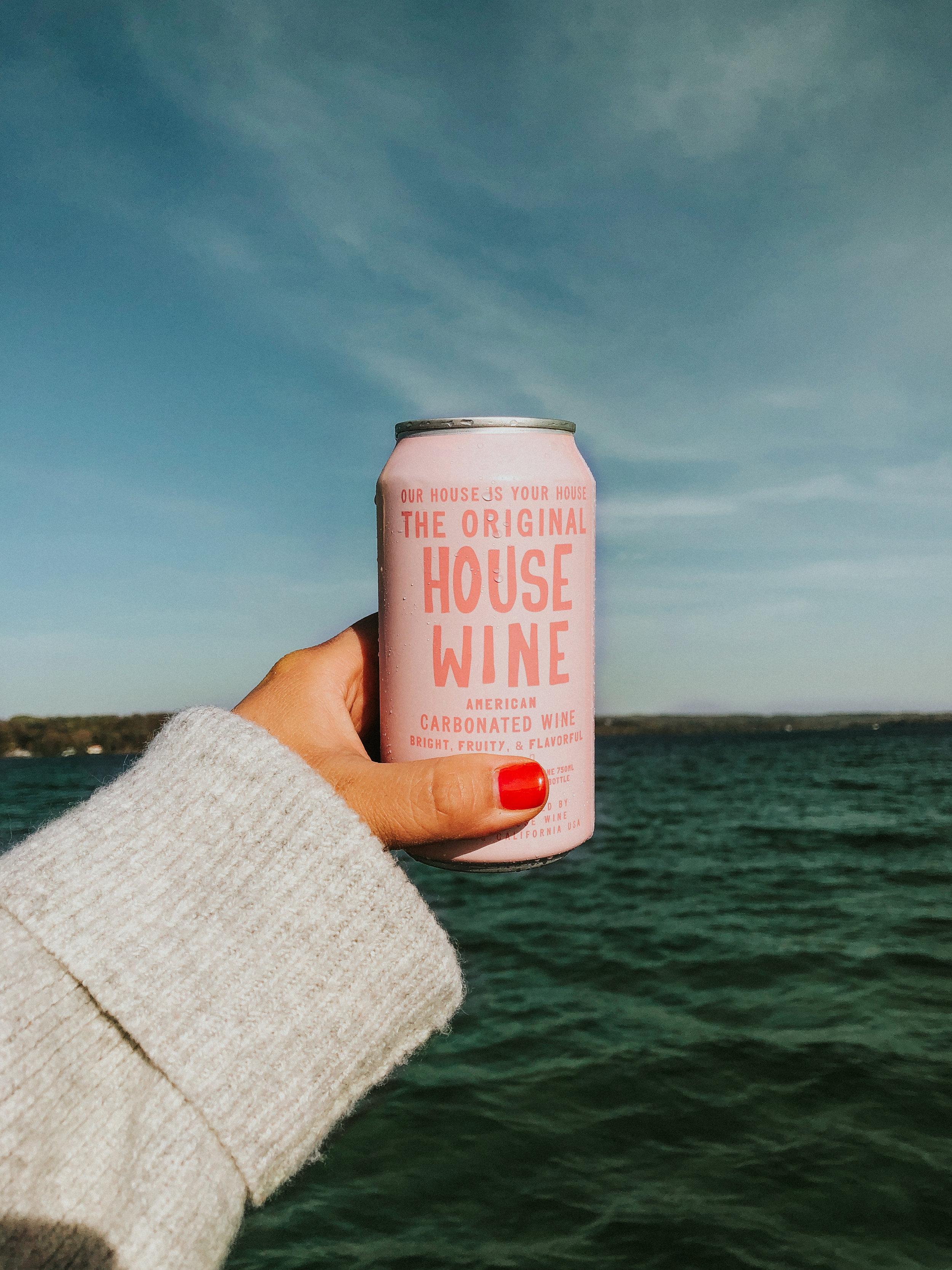 house wine on lake michigan