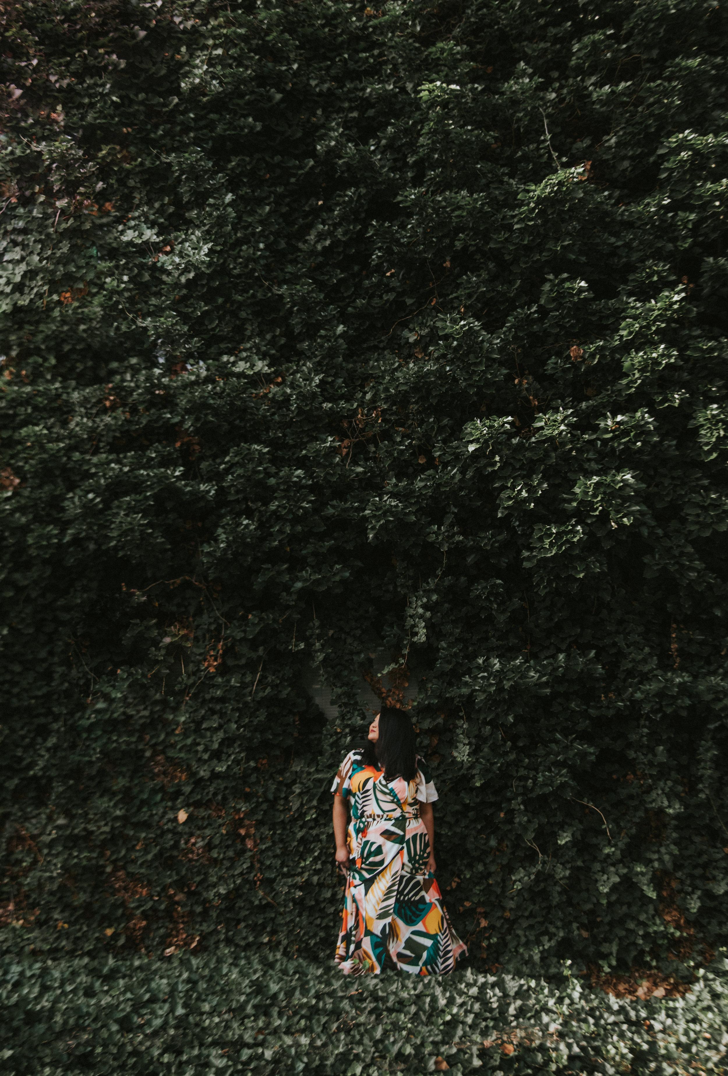 anthropologie-tropical-print-dress