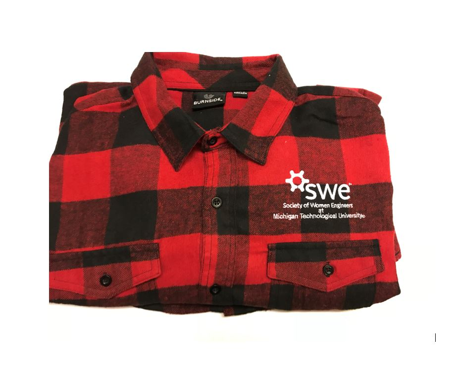 Flannel with SWE logo @ MTU    Student Price: $30    Non-Student Price: $40