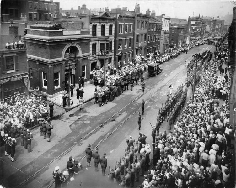 Funeral Procession in Cincinnat.