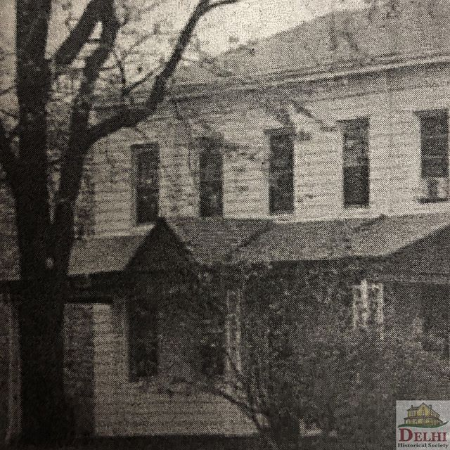 #tbt From 1957-1972 the Story home was used as the Delhi Town Hall. Built in the 1800s, It was considered one of the oldest homes in Delhi and was originally built using Delhi clay. The house was located next to present day Delhi Library on Foley Rd.