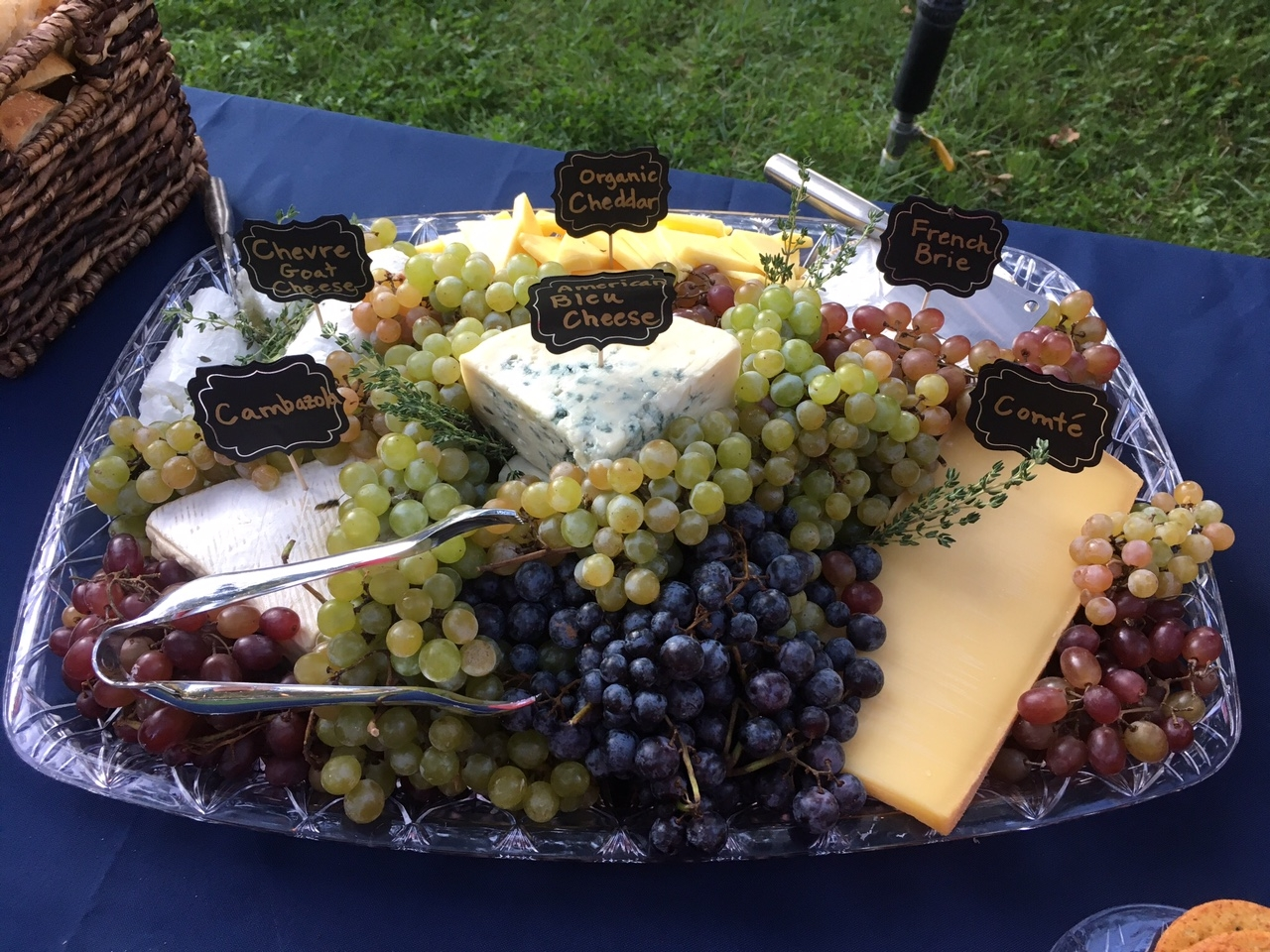 Gourmet Cheese Platter with local Heirloom Grapes