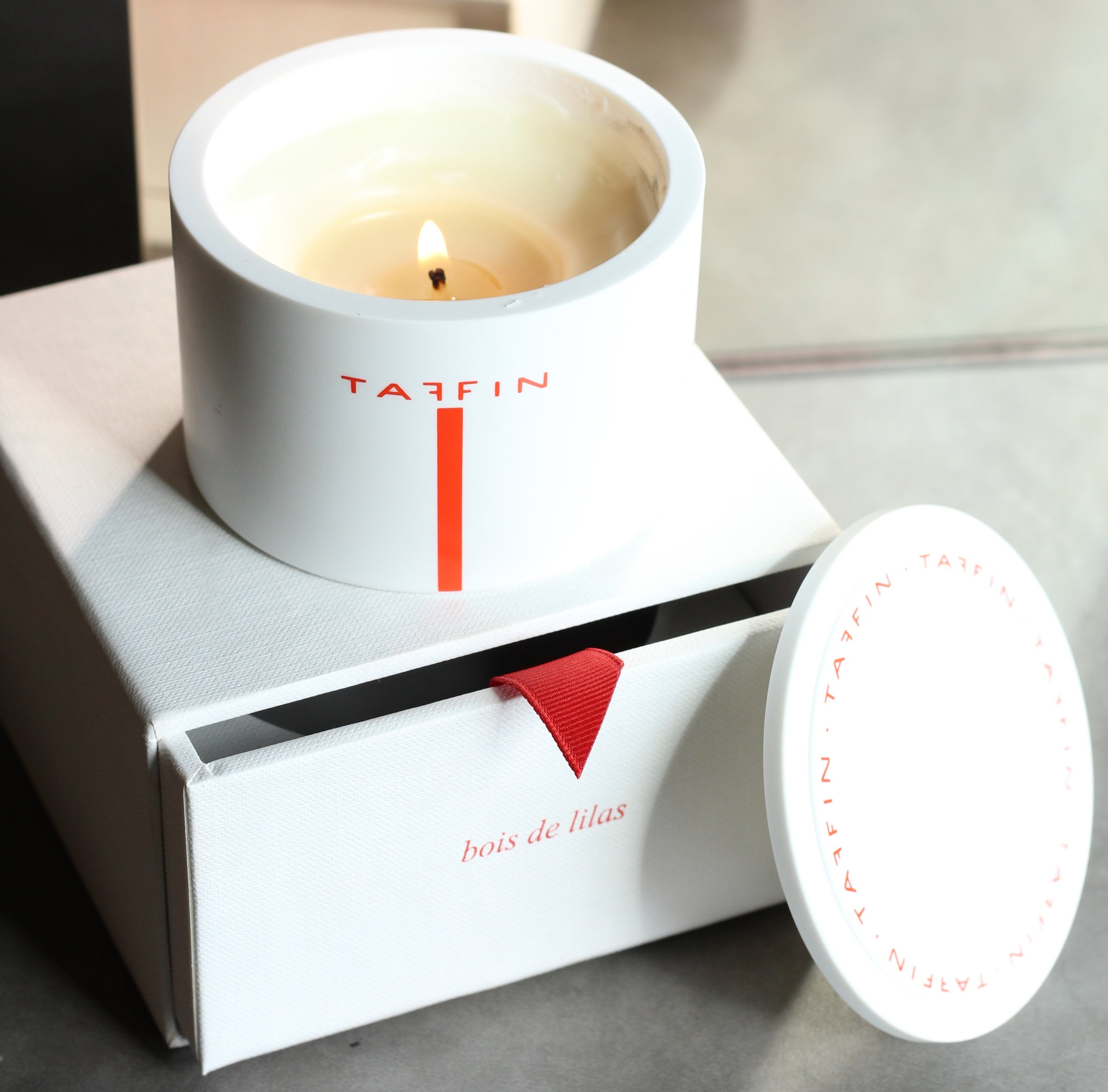 "TAFFIN Candles   TAFFIN candles represent meticulous craftsmanship and care. The concentrated combinations of essential oils and the Bakelite containers make for richly fragrant and visually stunning candles to enjoy and give. By James de Givenchy, Made in France.   ""Just as I strive to perfect each piece of jewelry that I create, I want my candles to represent the same meticulous craftsmanship and care.""   - James de Givenchy."