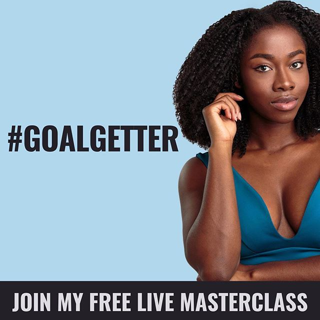 "I DID IT! My Live Online #GoalGetter Masterclass starts today!  As I promised in my previous post I dedicated the first month of 2019 to extracting the lessons from 10 years of #GoalGetter experience to create an easy to follow roadmap for anyone wanting to finally reach their own life goals instead of watching others on Instagram doing it! I am happy to announce that I will teach all of you LIVE just that in my #GoalGetter Master Class for FREE! ⠀⠀⠀⠀⠀⠀⠀⠀⠀ Today, Friday, Jan 25th 2019 8 PM  CET (Berlin time) or 2 PM EST (US time) or 7 PM UK time will be the PREMIER! So hit the link in my Bio to subscribe and save your online seat 👆🏾 AND Tag anyone that should be in this live online session in the comments 👇🏾 See y'all soon ❤️🔥 ___ ⠀⠀⠀⠀⠀⠀⠀⠀⠀ In the last 10year, I have been soli focused on becoming the most efficient person I can be, due to my vision of becoming a successful business owner aka. an entrepreneur who creates jobs, wealth and a better life for many. That is my heart's desire and motivation behind everything I do. In my 10 year quest I have tried a dozen techniques, courses, mentors, read books and took part in countless seminars. Trust me I have pretty much seen, heard, tried and done it all. Half of it was straight nonsense, 30% was too complicated, 10% too expensive for me as a fresh entrepreneur and 10% was useful. Yet, I still had to sit down and filter, test, try and re-engineer all my knowledge & experience to a context that would fit all of lives areas because who wants a different method for every single area of life? Aint nobody got time for that! I definitely don't! I am now in a place, where I have figured out the most efficient and least ""struggle"" way of effective goal reaching. And when I say goal, I mean ANY goal! Weight goal, Career Goal, Money Goal - maybe not relationship goal (I am still figuring that out lol) but any other goal I promise that the 3 steps that I will teach you will make you a certified #goalgetter ! I can't wait to meet you and teach you and see you WIN in life! #webinar #masterclass #onlinecourse #goals #noexcuses"