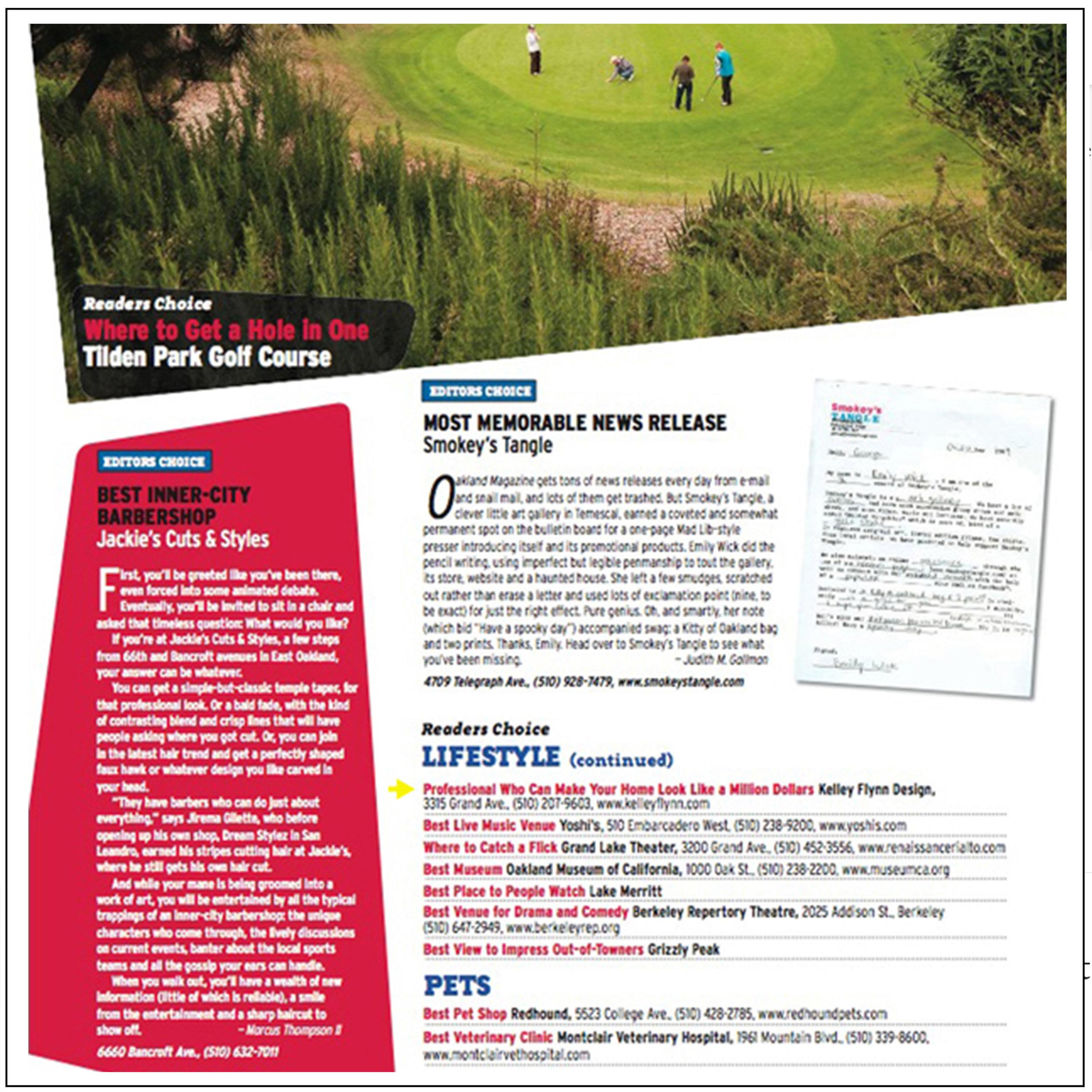 Oakland Magazine   2010   Best of 2010