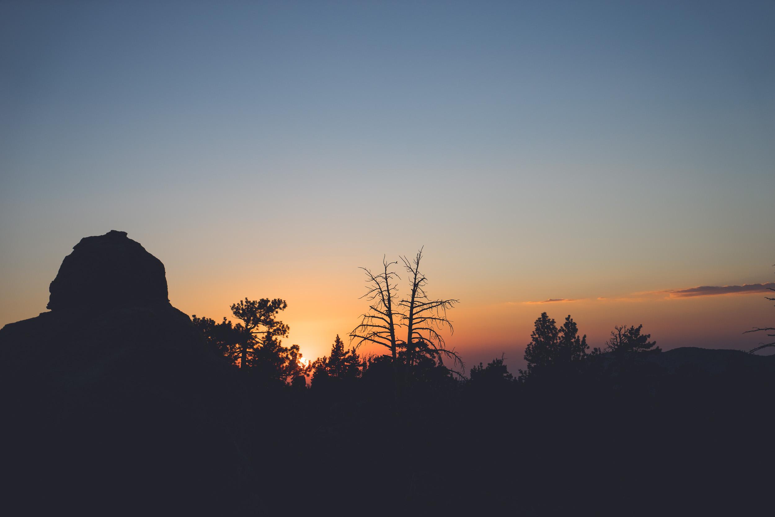 The sun sets on Hanna Flats.