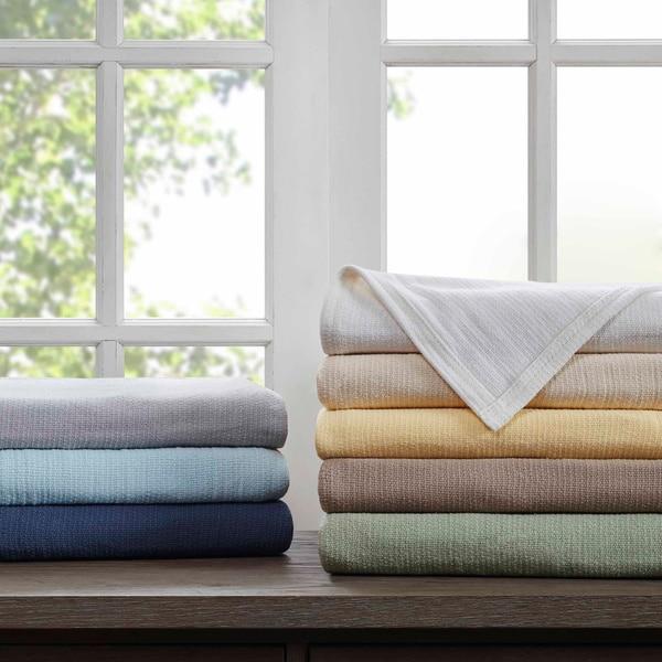 100% cotton blankets in multiple colors